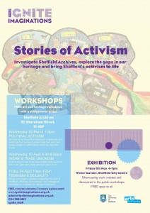 Stories of Activism workshops poster